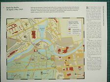 WW2 WWII MAP ~ BATTLE FOR BERLIN 26 APRIL - 2 MAY 1945 ~ CITY PLAN SOVIET ATTACK