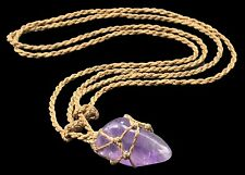 Macrame Necklace Custom Real Amethyst Authentic Collector Necklace 1AT