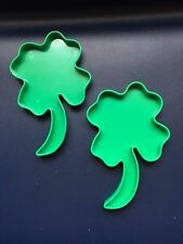 Cookie Cutter Tupperware St. Patrick's Day Clover Set Of 2 Cookie Cutters VA-23