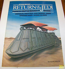 RETURN OF THE JEDI 1983 PUNCH OUT AND MAKE IT BOOK MAKE 5 CRAFTS
