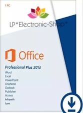 MICROSOFT OFFICE 2013 PROFESSIONAL PLUS 32/64 BIT ESD | ORIGINALE | FATTURA