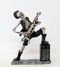 """Home Decor Rock Star 9.5"""" Tall Skeleton Figurine Statue with Piano"""