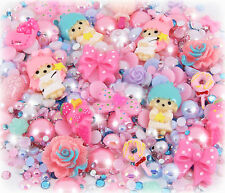 """contes de fées"" 25g Cabochon, perle & strass gems set decoden Kit kawaii Craft"