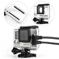 Side Open Skeleton Housing Case w/ Standard Waterproof Backdoor for GoPro Hero 4