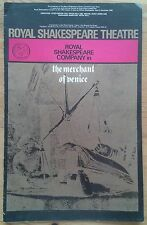 The Merchant of Venice programme Royal Shakespeare Theatre 1965 William Squire