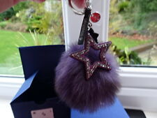 100% Authentic Swarovski Pom Pom Bag Charm/ Key Ring 5251647 (Purple) BNWT