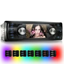 AUTORADIO MIT VIDEO DISPLAY BILDSCHIRM BLUETOOTH USB SD MP3 MP4 1DIN OHNE CD/DVD
