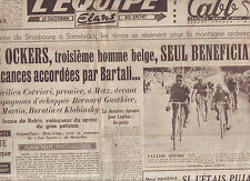 journal  l'équipe du 23/07/48 CYCLISME TOUR DE FRANCE 1948 CORRIERI OCKERS