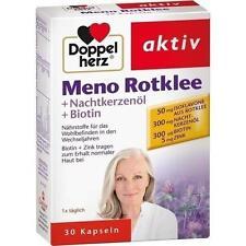 DOPPELHERZ Meno Rotklee+Nachtkerzenöl+Biotin Kaps. 30 St