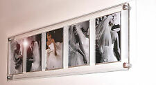 """GLOSS FLOATING ACRYLIC PICTURE MAGNETIC MULTI wall PHOTO FRAME 5x7"""" WEDDING BABY"""