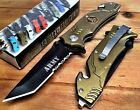 Pocket Army Spring Knife Assisted Us Tactical Folding Open Rescue New Military