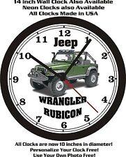 JEEP WRANGLER RUBICON WALL CLOCK-FREE USA SHIP!