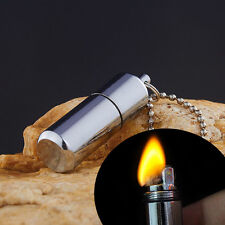1Pcs Portable Peanut Capsule Keyring Flint Aluminium Alloy Lighter Camping Tools