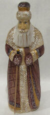 """Authentic Russian Wooden Santa Hand Carved, Painted  Signed By A. Kikin  10"""""""