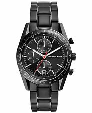 BRAND NEW MICHAEL KORS MK8386 ACCELERATOR BLACK STEEL CHRONOGRAPH MEN'S WATCH