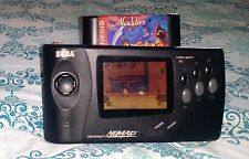 Sega Nomad Black Handheld ● Sega Genesis MD 3 GAME battery AV + 3P AC ADAPTOR ●