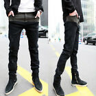 Fashion Men Stylish Designed Korean Stylish Slim Fit Casual Long Pants Jeans x1