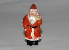 VICTORIAN ANTIQUE PAPER MACHE COMPOSITION MINIATURE SANTA CLAUS CHRISTMAS FIGURE