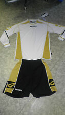 TOP ! 14 Trikot-Sets (Trikot+Hose) ATENE  v. LEGEA, weiß/gold M,XL