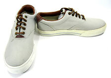 Polo Ralph Lauren Shoes Vaughn Athletic Canvas Gray/White Sneakers Size 8.5