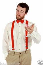 Men's Suspenders / Gallace Y Back Braces and Bow Tie - Combo (Red)