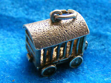 VINTAGE STERLING SILVER CHARM CIRCUS CAGE OPENS TO A LION