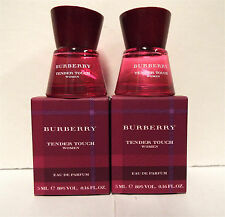 Burberry Tender Touch Perfume .16 oz 5 ml Eau De Parfum Mini 2 PACK New