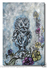 Owl Metal Wall Art  - Hand Sanded Modern Artwork - Contemporary Wall Sculpture