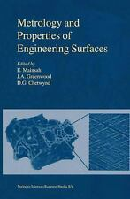 Metrology and Properties of Engineering Surfaces (Sensor Physics and T-ExLibrary