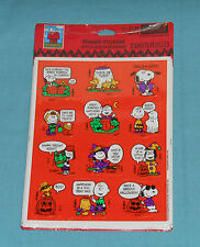 Heartline (Hallmark) PEANUTS HALLOWEEN STICKERS new/sealed Snoopy Charlie Brown