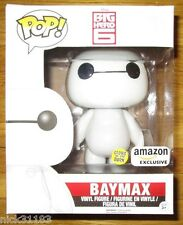 "FUNKO POP NURSE BAYMAX 6"" GLOW IN THE DARK VARIANT EXCLUSIVE DISNEY BIG HERO 6"