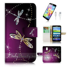 Samsung Galaxy S5 Flip Wallet Case Cover! P1844 Dragonfly