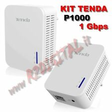 ADATTATORE TENDA P1000 KIT 2 ADATTATORI POWERLINE CONVERTITORE LAN ETHERNET