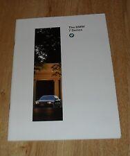 BMW 7 Series E38 Saloon Brochure 1996 728I 735I 740I 750I LWB 740IL 750IL