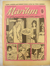 MARILYN all picture love story 1962 issue + cliff acker kenny ball back pic bill