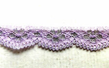2 meters of 30mm wide Light Purple with Silver Lace.