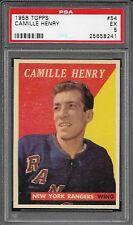PSA 5 1958 TOPPS HOCKEY #54 CAMILLE HENRY