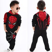 Jungen Baby Kinder Sweatshirt Spider-Man Pullover Hoodie Sport Freizeithose Hose