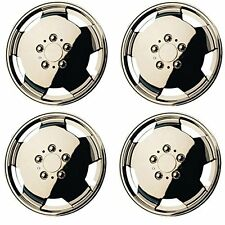 "Chrome Plated Van Wheel Trims 15"" 15 Inch Deep Dish Domed Bulbous Abs Plastic"