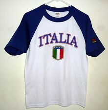 Italy (Italia) Soccer World Cup 4 Star 2-Sided Tee Shirt SM (UNISEX)