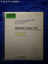 Sony Installationsanleitung XTL 6100Mk2 Mobile Color TV (#3175)