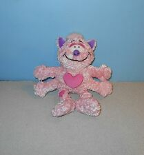 "Commonwealth Toys Plush Pink Love Monster Pink 9"" Spider Kitty Cat Bean Plush"