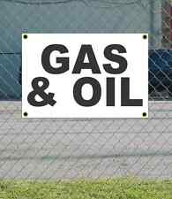 2x3 GAS & OIL Black & White Banner Sign NEW Discount Size & Price FREE SHIP