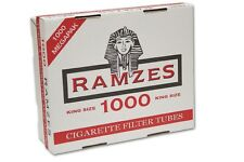 1000 RAMZES Empty Cigarette Filter Tubes King Size 1 BOX