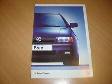 CATALOGUE VW Polo Classic de 1999 Suisse