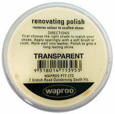 Neutral Shoe Polish Cream - Waproo Renovating Polish - Top Quility !!