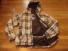 BURTON HOODED SNOW SKI SNOWBOARD CHECKERED DETAILED JACKET SMALL WINTER CUTE!