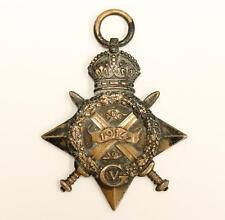 WW1 1914 STAR Medal Canada 295 PTE N Edwards R HIGHLANDERS
