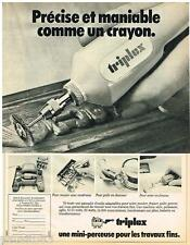 PUBLICITE ADVERTISING 095  1980  TRIPLEX outillage  meuleuse scie polisseuse
