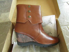 NEW SANITA MADDOX COGNAC LEATHER MID BOOTS WOMENS 9 (39)